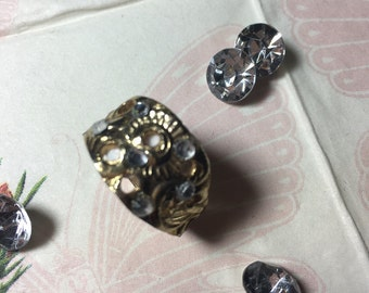 Ring gold plated with Zirkonien from spoon end