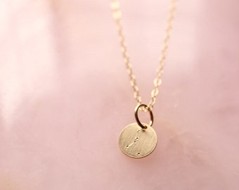 Cancer zodiac constellation gold filled necklace