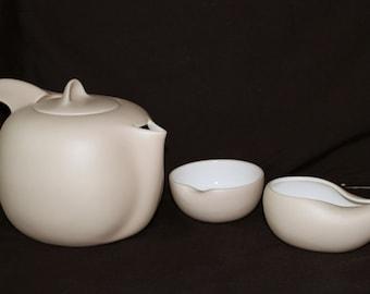 ELSA PERETTI for TIFFANY & Co- Vintage Beige Thumbprint Series Tea Set-Italy