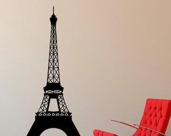 Eiffel Tower Wall Decal Paris Theme Decor   Vinyl Wall Decal La Tour Eiffel  Wall Art