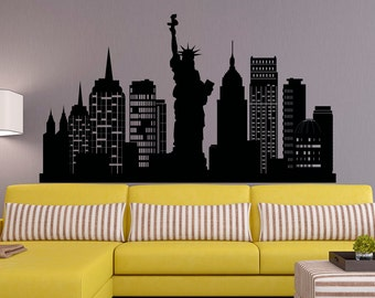 New York City Wall Art new york wall decal | etsy