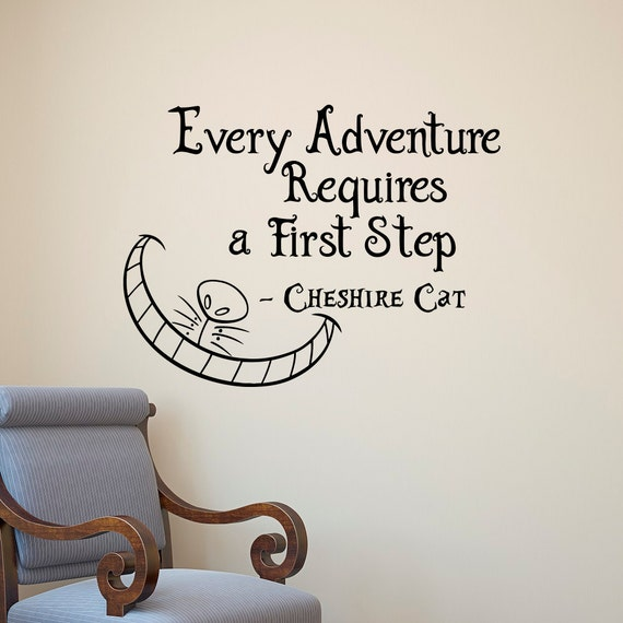 Disney Alice In Wonderland Quote: Alice In Wonderland Wall Decal Cheshire Cat Every Adventure