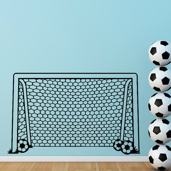 soccer goal wall decal football goal net decals stickers soccer wall
