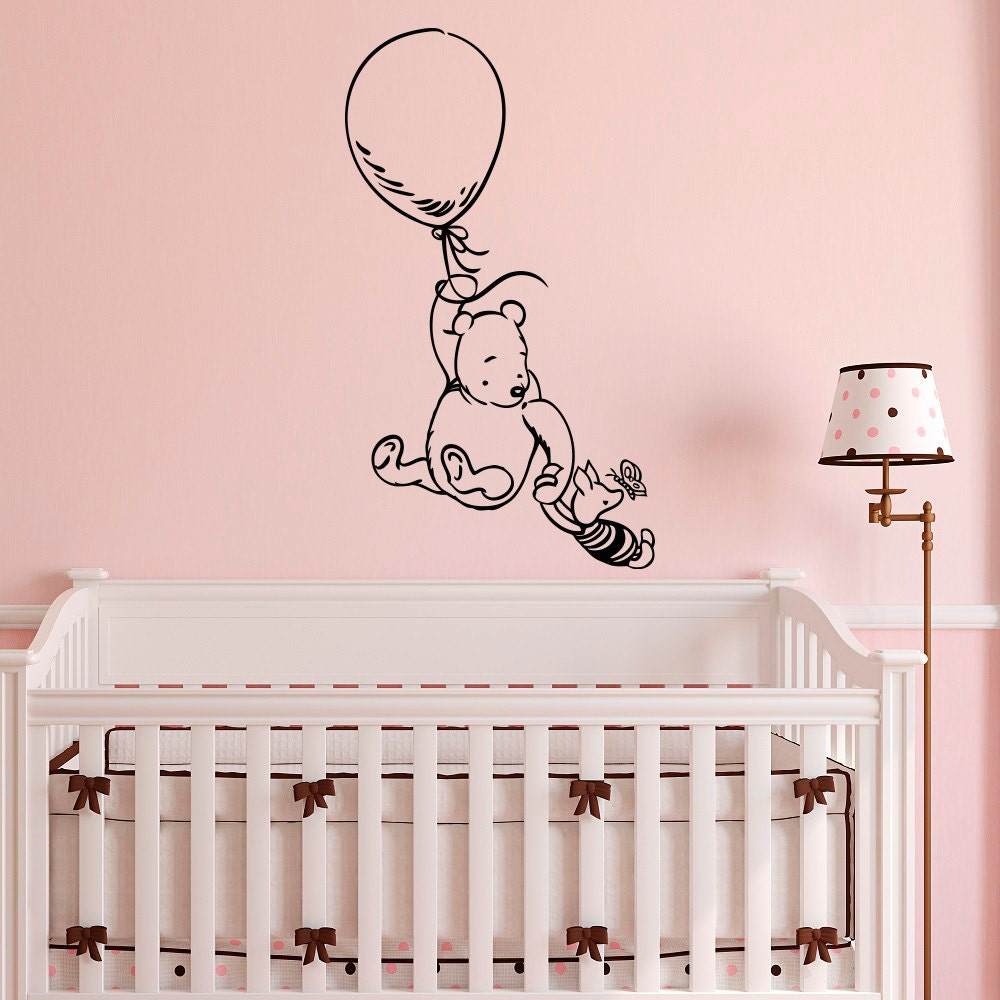 Winnie The Pooh Wall Decal Sticker Classic Winnie The Pooh - Nursery wall decals uk
