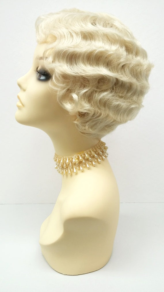 1920s Style Short 613 Blonde Finger Wave Wig by - Finger Wave Hairstyles