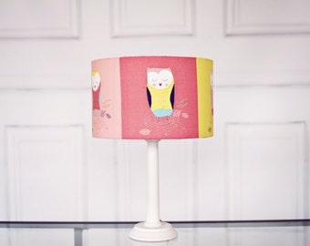 Owl Lampshade, Childrens Lampshade, Nursery Lamp shade, Owl lamp shade, Drum lampshade, owl nursery, lampshade, neutral nursery, owl decor