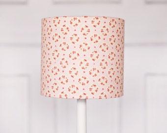 Lamp shade, pastel pink lamp, floral lampshades, playroom decor, girls nursery, girls bedroom decor,