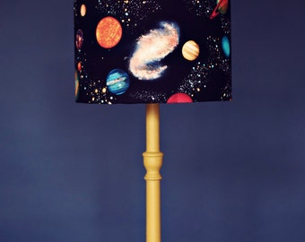 Planet lampshade, stars lamp shade, space birthday gift,  kids lamps, childrens lampshade, space bedroom, childrens bedroom, solar system