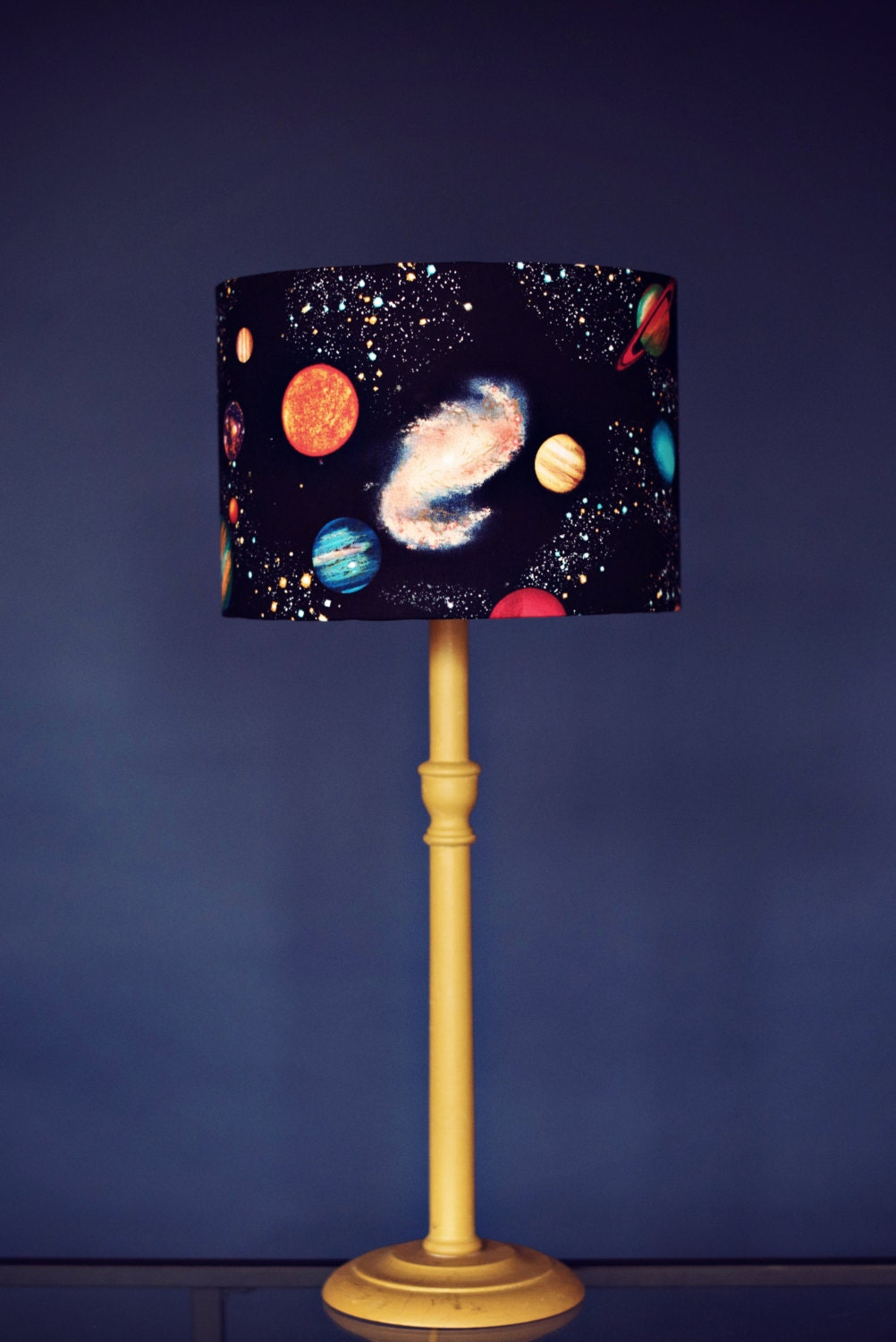 Childrens Wall Lamp Shades : Planet lampshade stars lamp shade space birthday gift kids