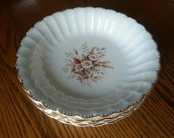 American Limoges Sundale 22K Gold edging...Soup/Salad bowls