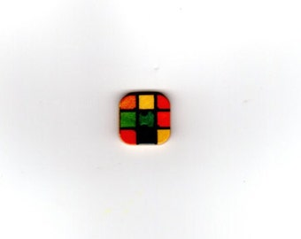 SQUARE SHAPED BUTTONS- various styles - 5 per pack