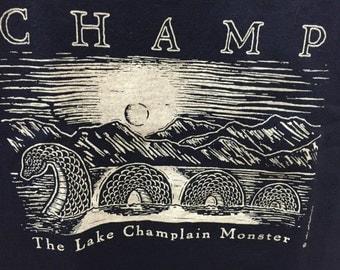 KIDS - Champ Lake Champlain Monster T-shirt - Champy Lake Monster - New York - Vermont