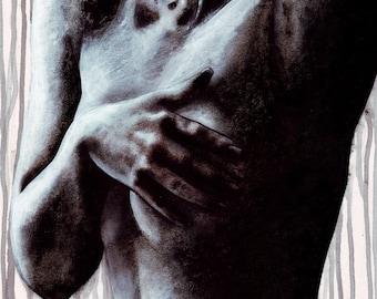 Sarah Scotchman - Leila Domani - Acrylic on Board 31 x 43cm