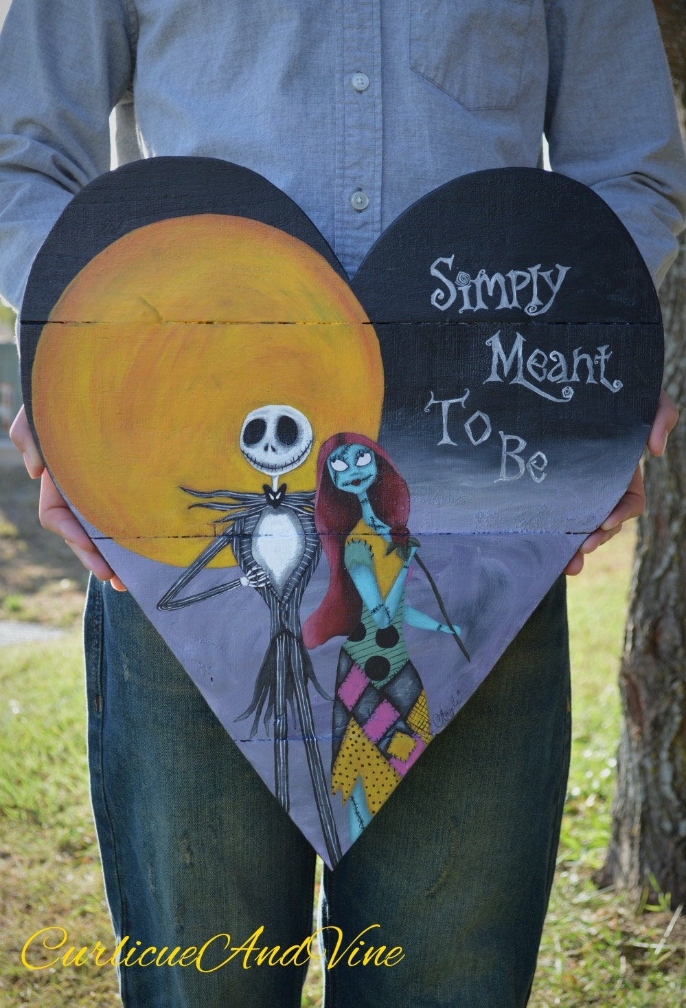 Pallet Wood Sign Nightmare Before Christmas Inspired Art