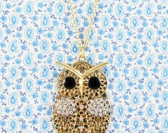 SALE, Owl Necklace, Animal Jewellery, Bird Necklace, Wise Owl, Animal Necklace