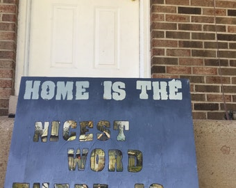 Home Is the Nicest Word There Is - Laura Ingalls Wilder Quote Painting