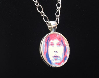 Nigel Tufnel from Spinal Tap resin pendant!! Silver color. Choose your chain length!
