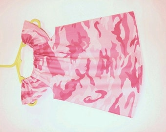 Sale! Camo baby dress, pink, baby girl clothes, baby girl dress,  baby clothing, kids clothing, baby girl clothing, summer baby dress