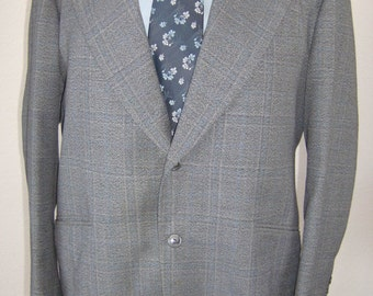 Grey Plaid 2pc Hand Tailored Suit