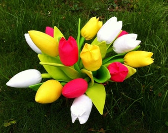 Fabric tulips - price per one. Plus FREE gift-surprise!
