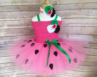 Watermelon costume - watermelon tutu - watermelon dress - girls birthday dress - costumes for girls - girls dress up -girls Chiristmas gifts