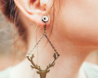Stag earrings