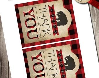 Lumberjack Bash Thank You Notes, Lumberjack Thank You Notes, Flannel Up Thank You Notes
