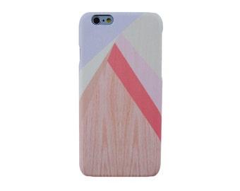 Pastel geometric on Wood print iPhone 6S+ Phone case Pastel geometric iPhone 7 case Geometric wood print iPhone 5 case # NOT REAL WOOD #