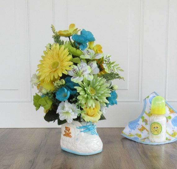 baby shower centerpiece artificial flower arrangement faux flower