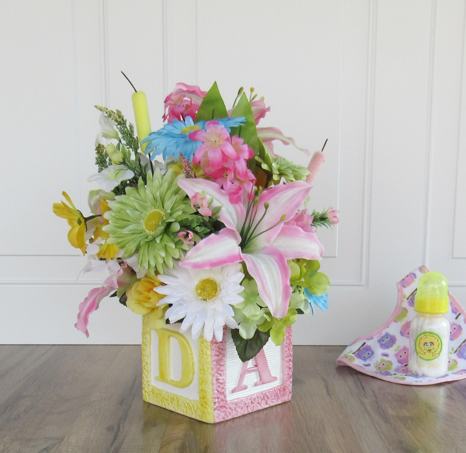 Baby Shower Flower Arrangements Centerpieces | baby shower ...