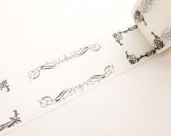 Wedding decor washi tape, Design frame wedding, DIY invitation tape, Elegant lace tape, Stationery gift idea, White washi tape, Hobonichi