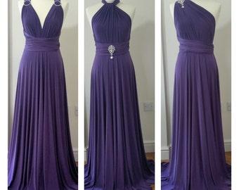 Infinity Dress Multiway Dress Convertible Dress Twist Wrap Dress Bridesmaid Dress Wedding Prom Evening Light Purple