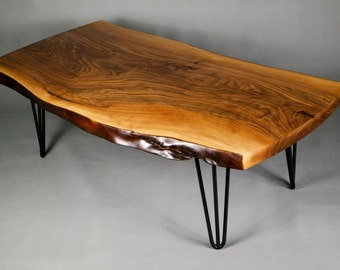 Live edge table,Walnut coffee table,slab table, coffee table,walnut furniture