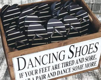 Wedding Dancing Shoes Wooden Crate Storage