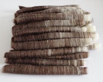 Puni-style rolags set - cafe latte merino wool blend 55 grams / 2 oz.