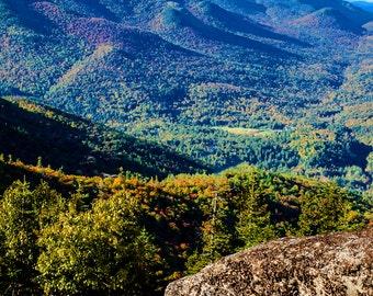 Landscape Photograph, Adirondack Photograph, Fall Foliage, Landscape Art, Adirondack Mountain Photo, Nature Print, Keene Valley Photo