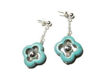 Beautiful Turquoise Sterling Silver 925 earrings