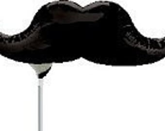 16 inch Air Fill Mustache Balloon- Colorful and great quality.