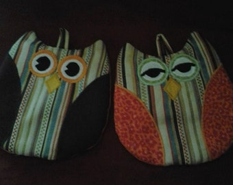 Handcrafted Owl Potholders