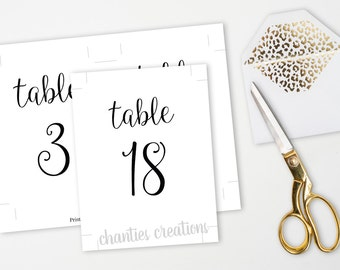 Printable Table Numbers 1-30. 4x6 and 5x7 black table numbers. Wedding Table Numbers. Wedding Table. Printable Wedding Signs. Wedding DIY