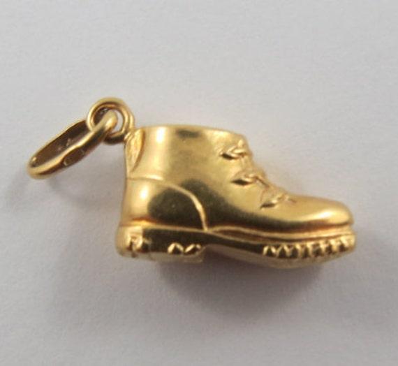 Shoe Charm Bracelet: Baby Shoe 18K Gold Vintage Charm For Bracelet