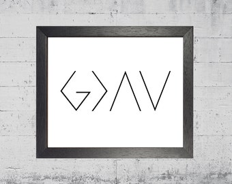 God is Greater than the Highs and Lows  G> | Instant Download Digital Printable