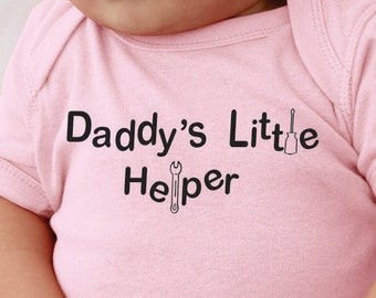 Daddy's Little Helper. Baby onesie.Infant bodysuit.