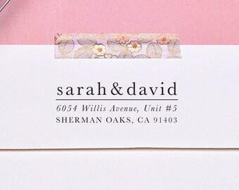 Wedding Address Stamp, Self Inking Return Address Stamp, Classic H125