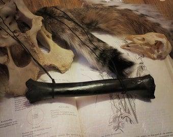 SALE! Black Bone Necklace, Bone Jewelry, Curiosities, Oddities, Oddities Necklace, Witchy Necklace, Taxidermy Jewelry, Vulture Culture
