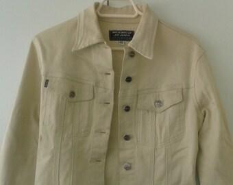 JACKET BEIGE jacket VINTAGE Cowgirl boho 90 woman