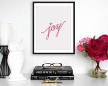Inspirational Print Typography Print Joy Print Inspirational Art Christian Gifts Baby Dedication Gift, 8x10 Paper Print
