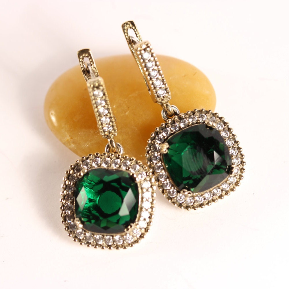 Turkish Jewelry Handmade Emerald Topaz 925K By ISTANBULSILVERS