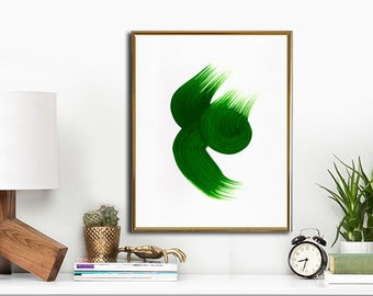 "Watercolor Painting Printable Art, Abstract Art Print, INSTANT DOWNLOAD Printable wall art, 11""x14"". Green."