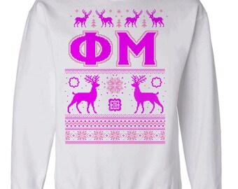 Phi Mu Ugly Christmas Sweater Crewneck